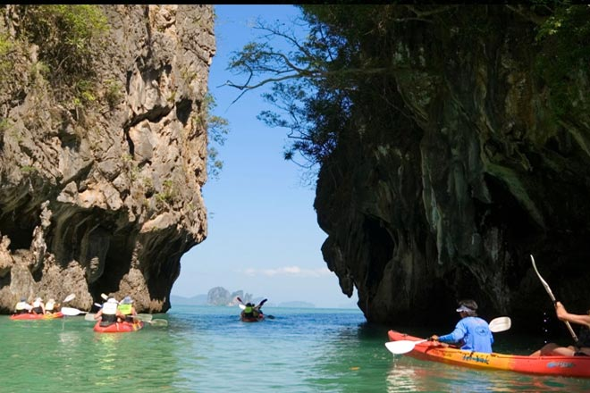 Hong Island by Sea Canoe